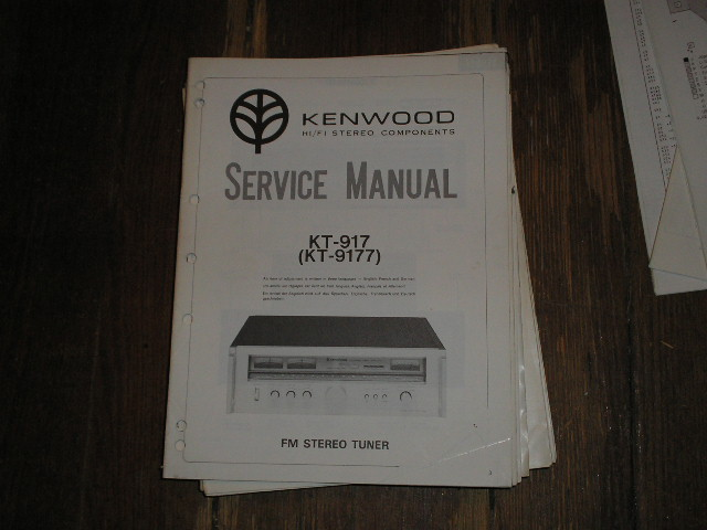 KT-1000 Tuner Service Manual 1970s Version