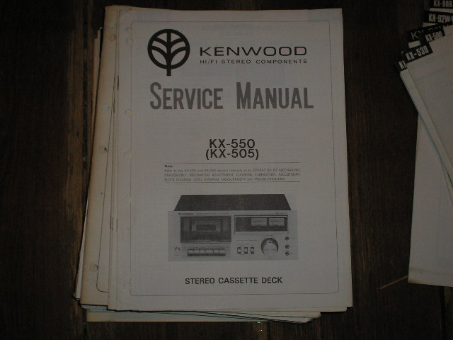 kenwood kx 505 kx 550 cassette deck service manual. Black Bedroom Furniture Sets. Home Design Ideas