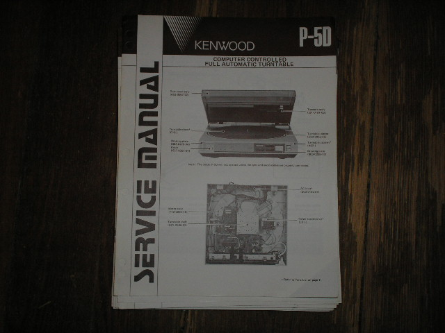 P-5D Turntable Service Manual  Kenwood Turntables