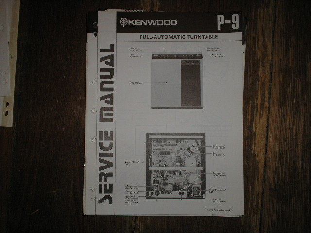 P-9 Turntable Service Manual  Kenwood Turntables