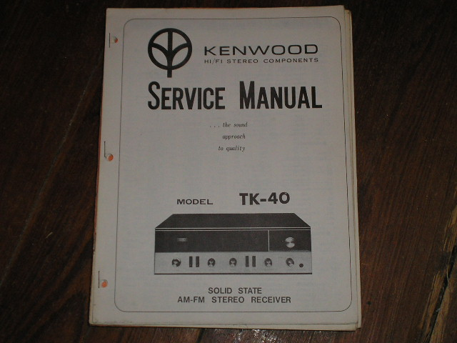 TK-40 Receiver Service Manual  Kenwood Receivers