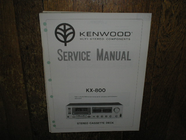 kenwood kx 800 cassette deck service manual. Black Bedroom Furniture Sets. Home Design Ideas