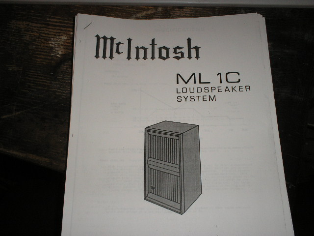 ML1C Loudspeaker Service Manual for Serial Number N1A001 and above..