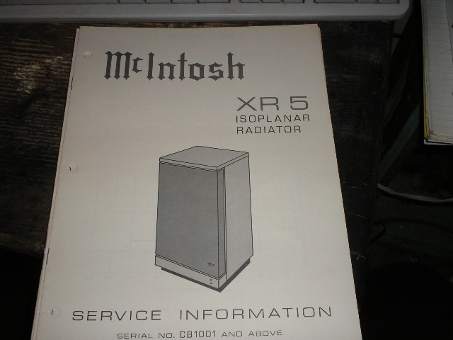 XR5  Loudspeaker Service Manual for Serial Number CB1001 and above..