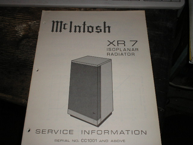 XR7  Loudspeaker Service Manual for Serial Number CC1001 and above..