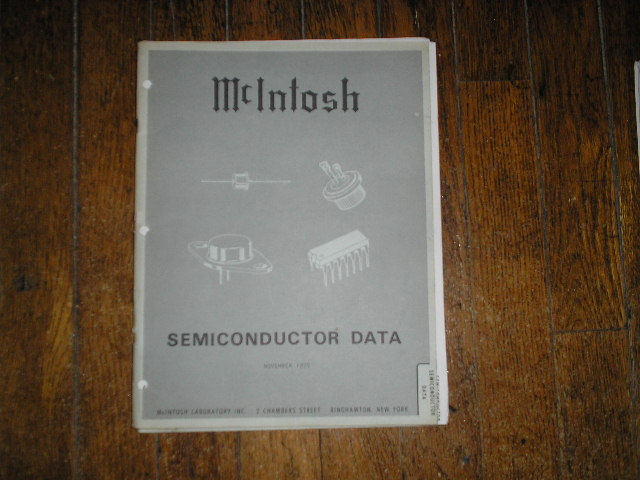 McIntosh 1975 SEMICONDUCTOR Manual has photos of the diodes and transistor data etc..