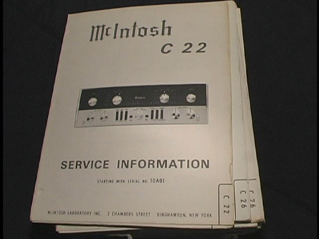 C 22 Pre-Amplifier Service Manual Starting with Serial No 10A01 c22