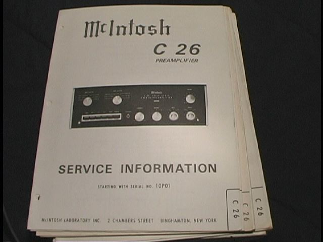 C 26 Pre-Amplifier Service Manual Starting with Serial No 10P01