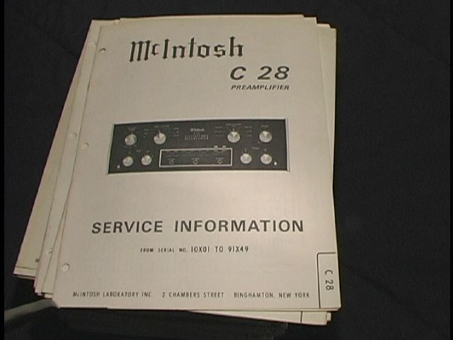 C 28 Pre-Amplifier Service Manual Starting with Serial No 10X01 to 91X49