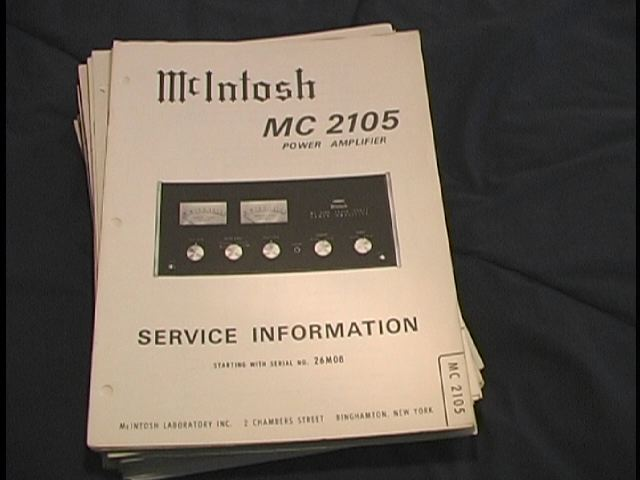 MC 2105 Power Amplifier Service Manual for Serial No.10M01