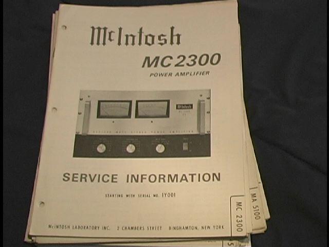 MC 2300 Power Amplifier Service Manual for Serial No. 1Y001
