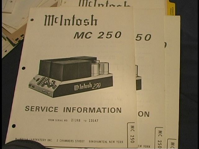 MC 250 Power Amplifier Service Manual Starting with Serial No 21L98 to 23L47