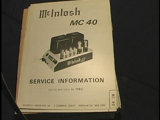 MC 40 Power Amplifier Schematic Starting with Serial No 100L1