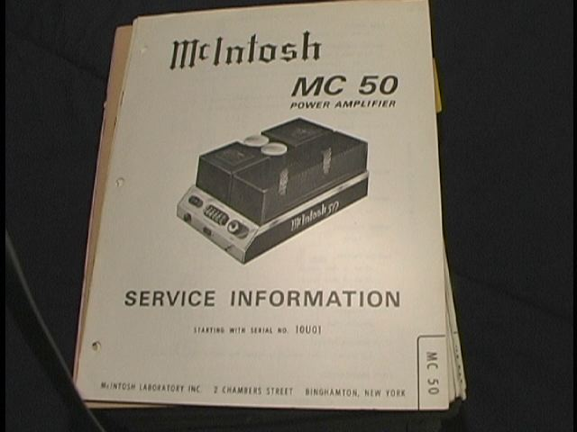 MC 50 Power Amplifier Schematic Starting with Serial No 10U01
