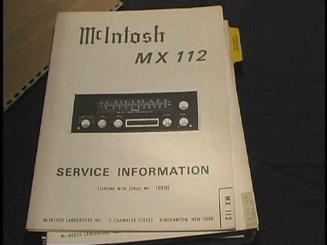 MX-112 Tuner Pre-Amplifier Service Manual Serial No.10S01