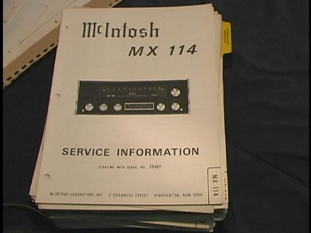 MX-114 Tuner Pre-Amplifier Service Manual Serial No.10V01