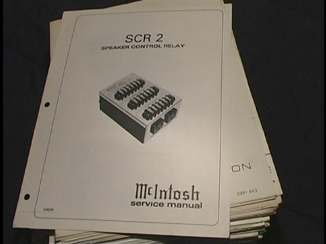 SCR 2  Speaker Control Relay Service Manual Serial # BW100W1 and Above and Serial # BW1001 and Above