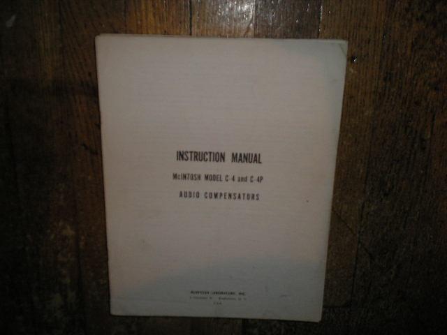 C-4 C-4P Audio Compensator Service Manual