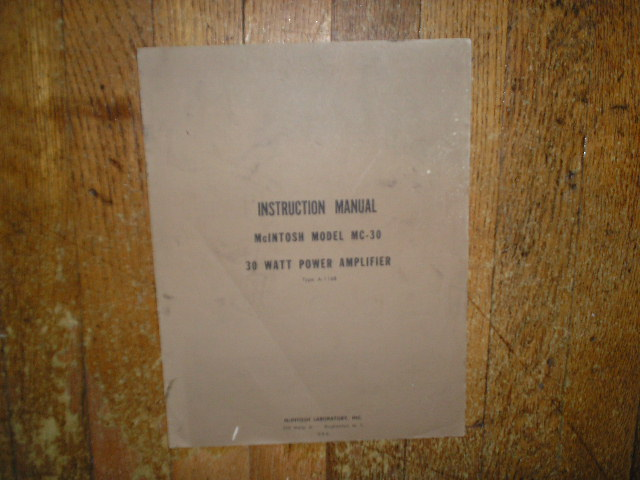 MC 30 A-116B 30 Watt Power Amplifier Service Manual