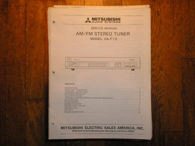 DA-F12 Tuner Service Manual