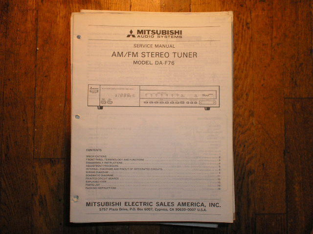 DA-F76 Tuner Service Manual