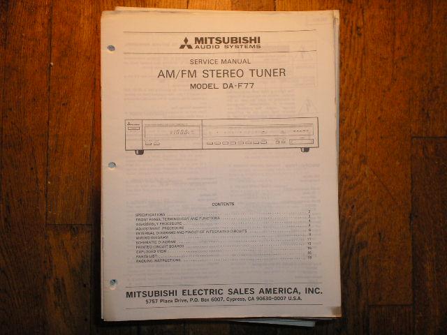 DA-F77 Tuner Service Manual