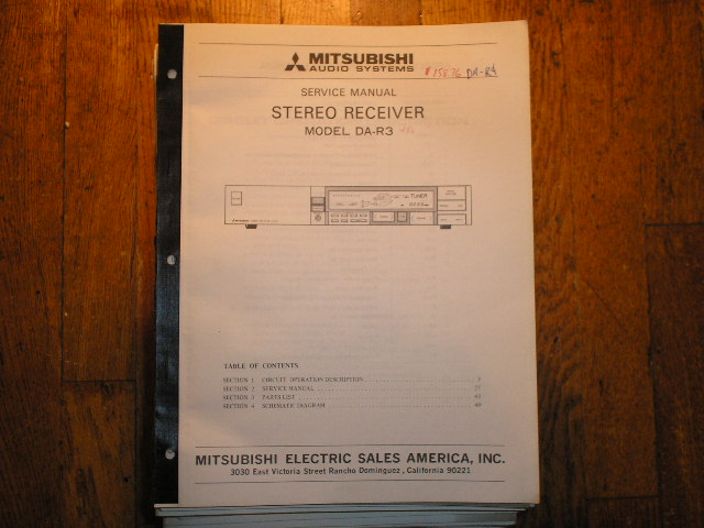 DA-R3 RECEIVER Service Manual  MITSUBISHI