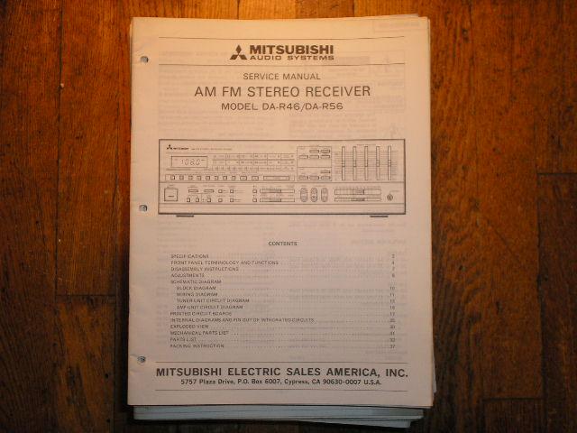 DA-R46 DA-R56 Receiver Service Manual