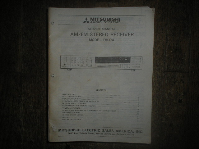 DA-R4 RECEIVER Service Manual  MITSUBISHI