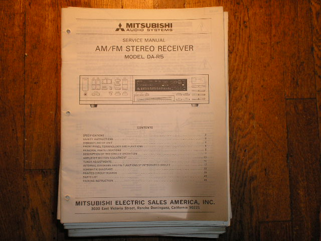 DA-R5 RECEIVER Service Manual  MITSUBISHI