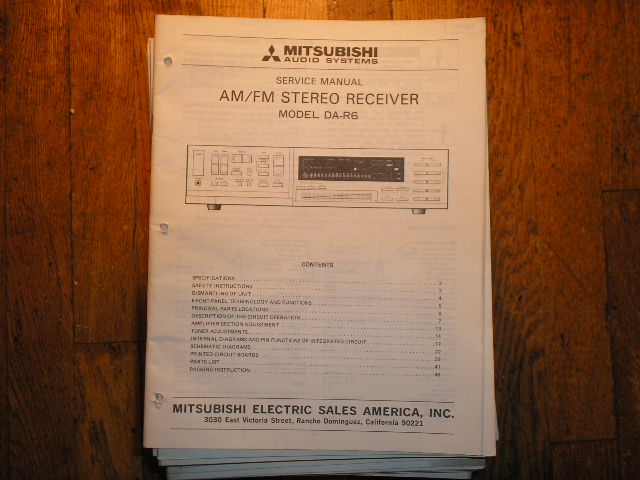 DA-R6 RECEIVER Service Manual  MITSUBISHI
