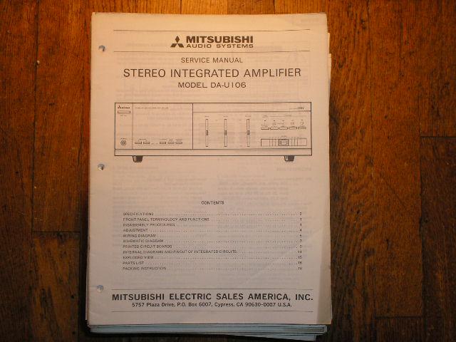 DA-U106 Amplifier Service Manual