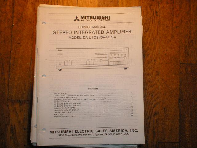 DA-U108 DA-U154 Amplifier Service Manual