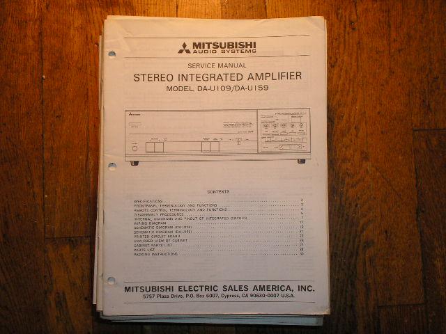 DA-U109 DA-U159 Amplifier Service Manual