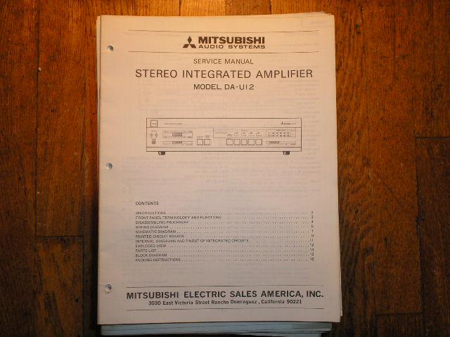 DA-U12 Amplifier Service Manual