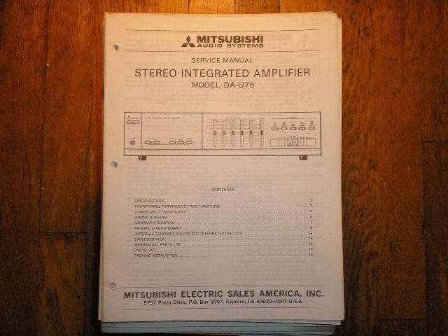 DA-U76 Amplifier Service Manual