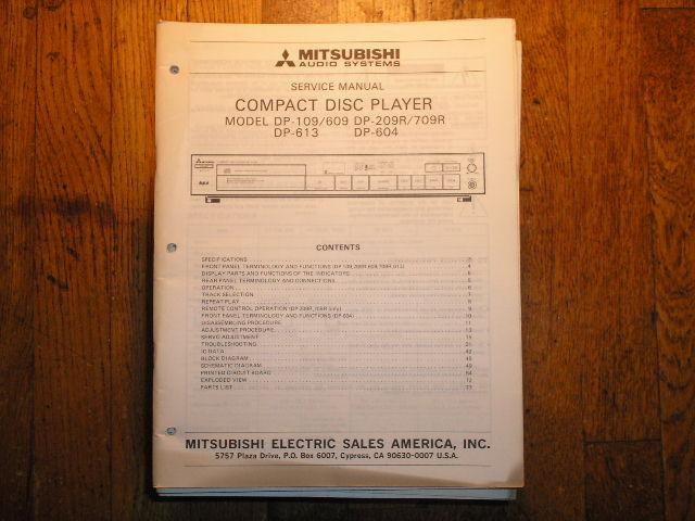 DP-109 DP-209R DP-604 DP-613 DP-709R CD Player Service Manual