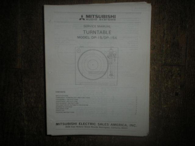 DP-15 DP-15X Turntable Service Manual  LSM3039