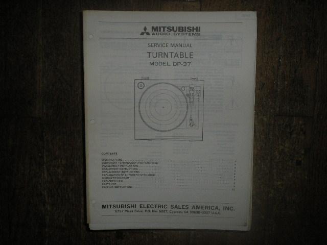 DP-37 Turntable Service Manual  LSM3022