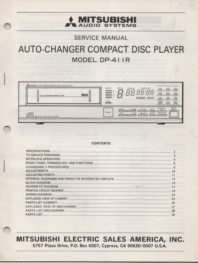 DP-411R CD PLAYER  Service Manual