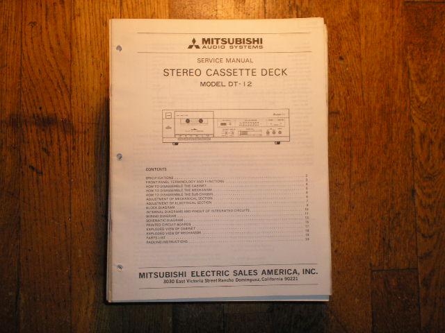 DT-12 Cassette Deck Service Manual