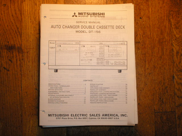 DT-156 Cassette Deck Service Manual