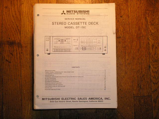 DT-15C Cassette Deck Service Manual  lsm3082