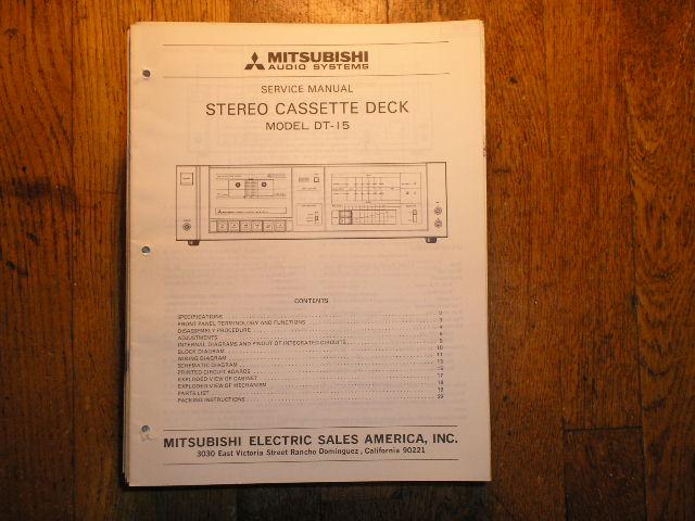DT-15 Cassette Deck Service Manual  lsm3036