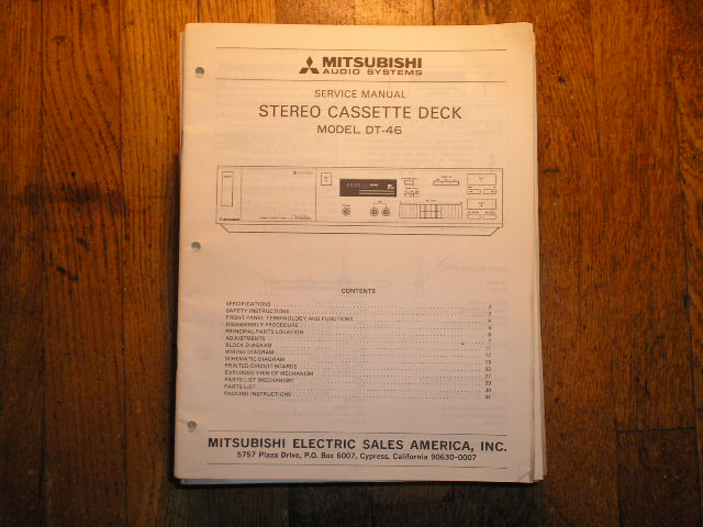 DT-46 Cassette Deck Service Manual lsm5026