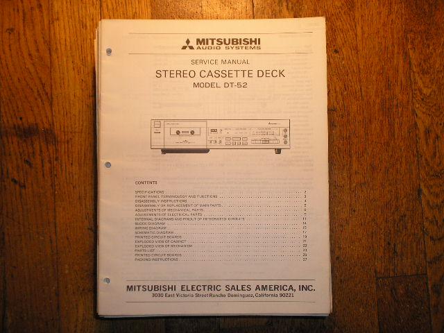 DT-52 Cassette Deck Service Manual