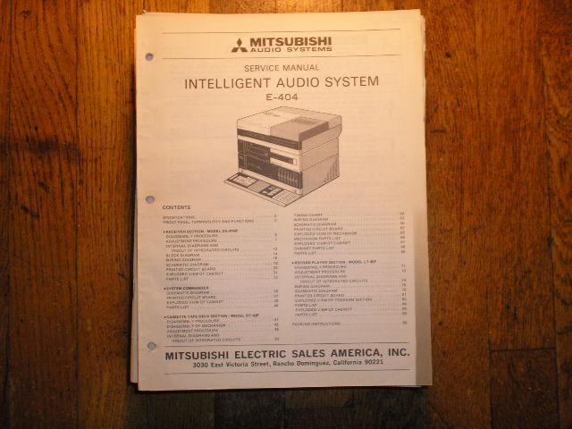 E-404 INTELLIGENT AUDIO COMPONENT SYSTEM Service Manual  LSM3073