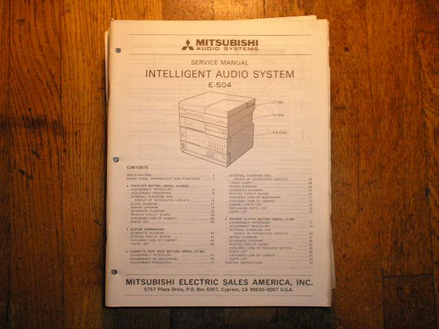 E-504 INTELLIGENT AUDIO COMPONENT SYSTEM Service Manual  SM-5050