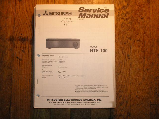 HTS-100 AV Center  Service Manual