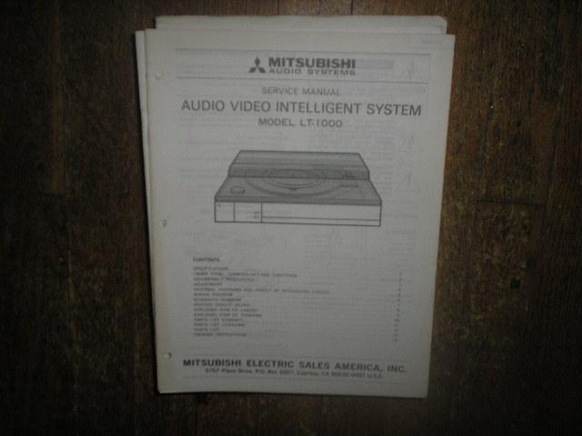 LT-1000 Turntable Service Manual  SM6003